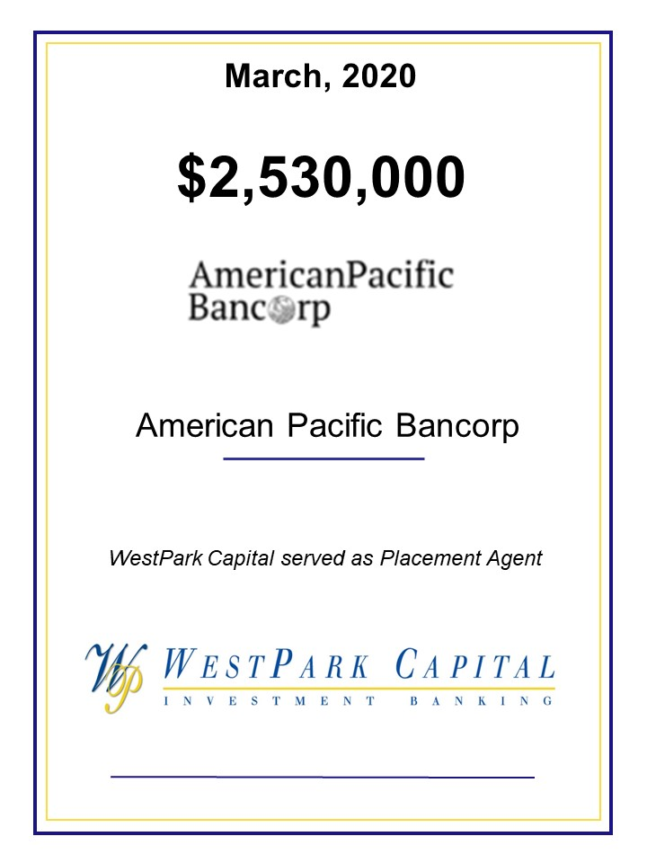 0320 American Pacific Bancorp